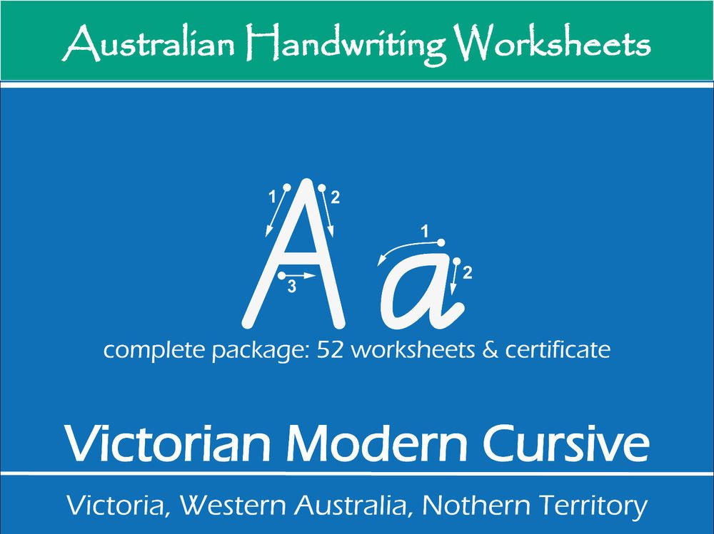 Details about Handwriting Practice Worksheets - Victorian ...