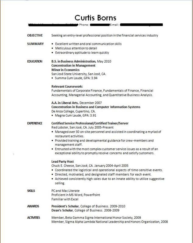 Resumes For College Students - http\/\/wwwjobresumewebsite - sample resume for fresh graduate