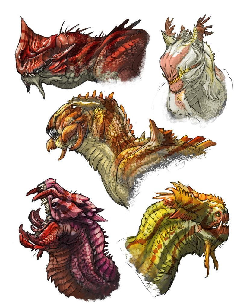 dragon heads by onikaizer on deviantart dragons portraits
