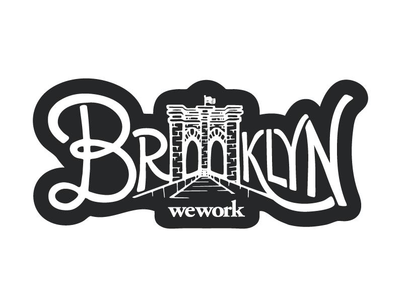 Brooklyn Sticker Work Stickers Vintage Logo Graffiti Styles
