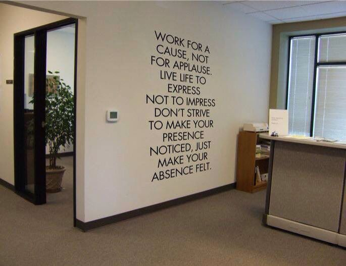 This Is What Social Worn And Case Management Are All About Office Wall Design Office Wall Decor Inspirational Quotes