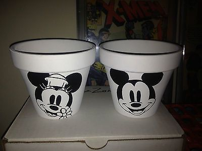 Hand painted mickey and minnie mouse garden pots set disney ebay hand painted mickey and minnie mouse garden pots set disney ebay workwithnaturefo