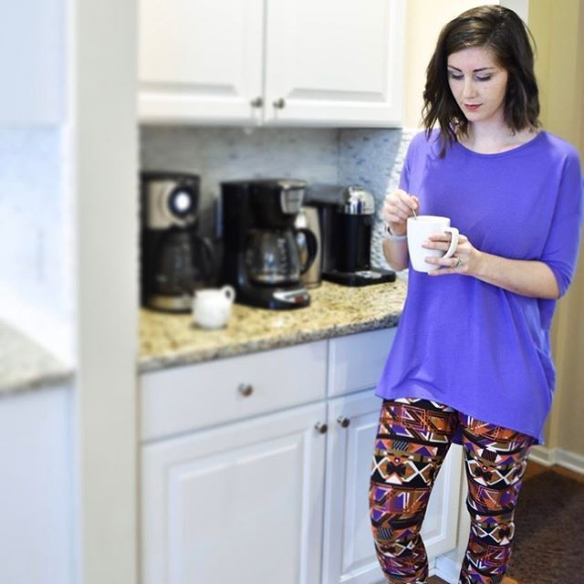 Today was a two cups of coffee kind of day. ☕️ - Both my kids are feeling a little under the weather and I am still feeling tired from a fun and busy weekend. - Thankfully, I have this super soft and comfy LuLaRoe outfit that Lori from @lularoelorif