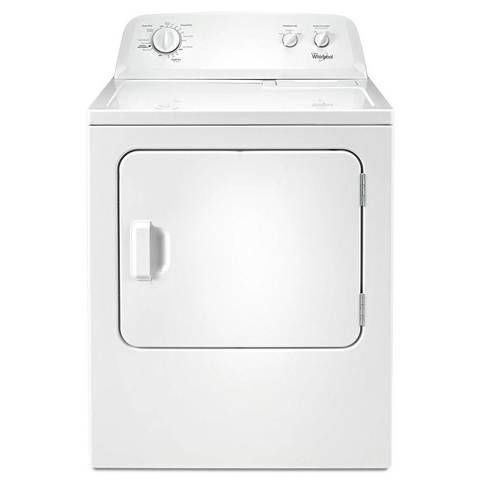 shop whirlpool 7cu ft electric dryer white at lowescom