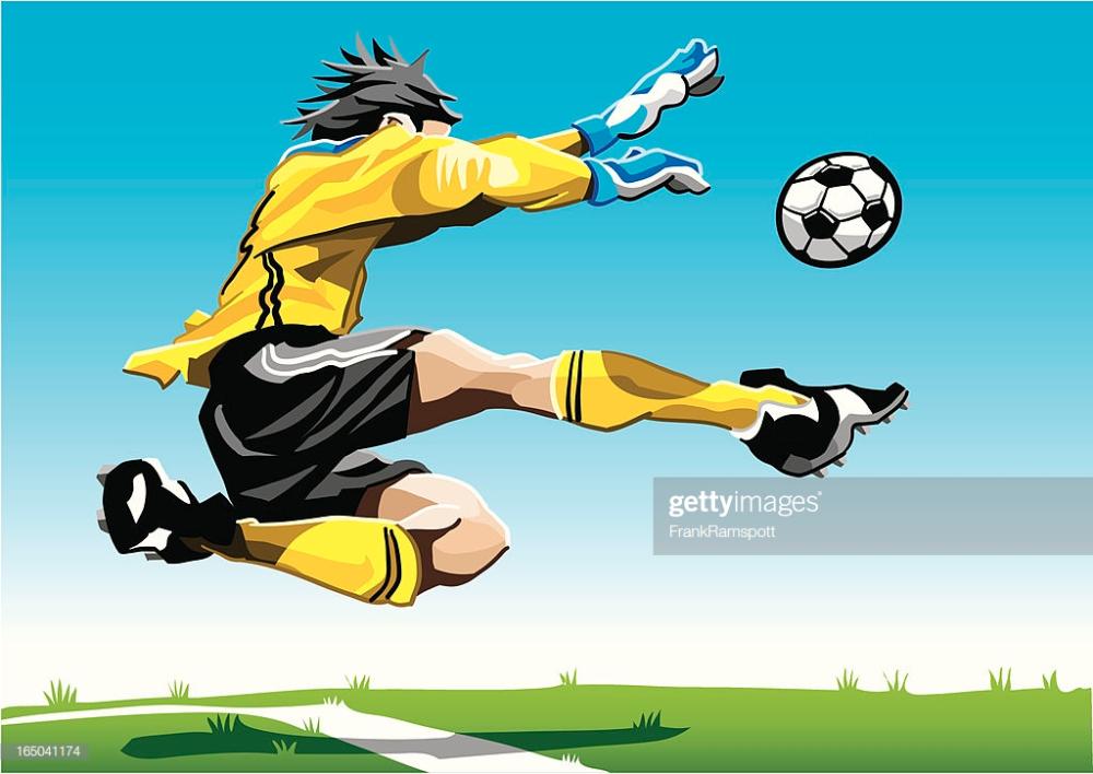 Vector Illustration Of A Soccer Goalkeeper With A Yellow Jersey The In 2020 Goalkeeper Illustration Vector Illustration