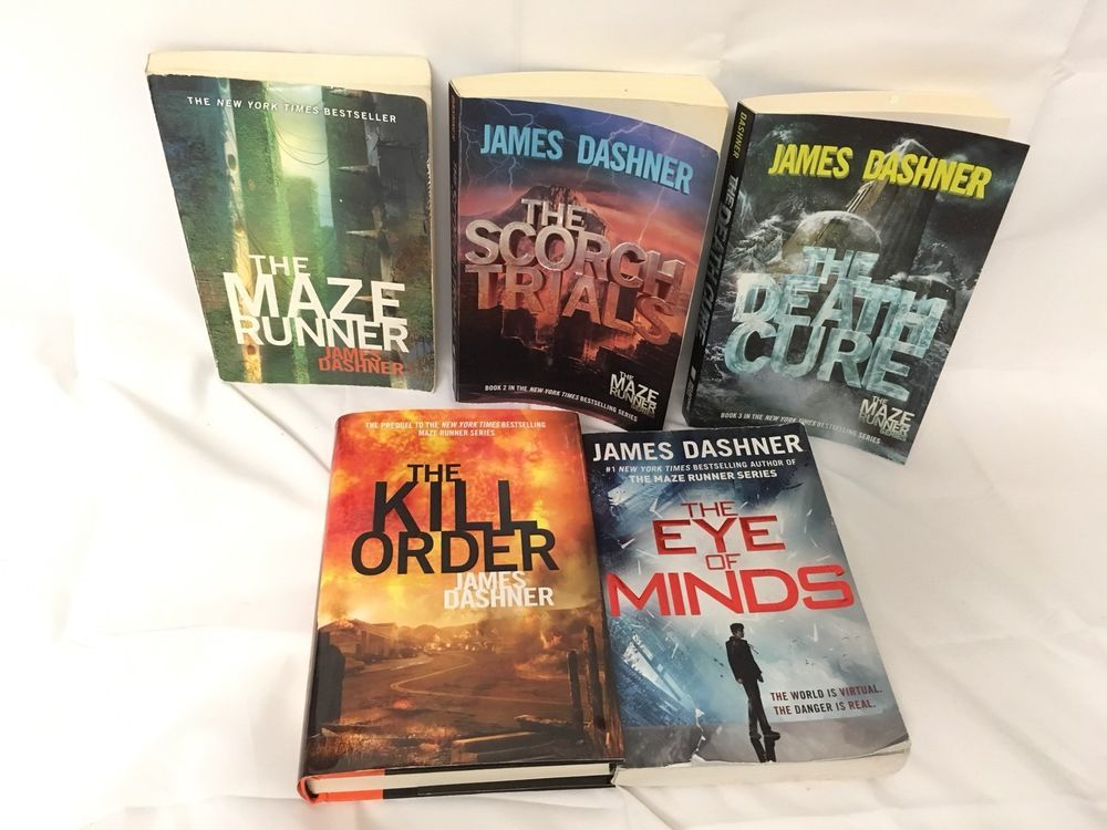 The Maze Runner Complete Series Set Lot 5 James Dashner Kill Order