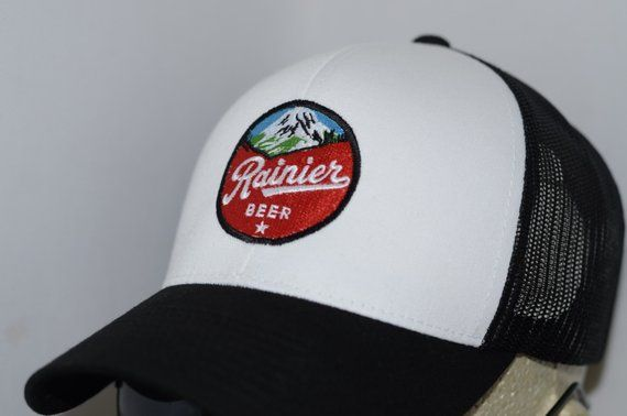 Rainer Beer Red And White Adjustable Mesh Snapback Trucker Hat Red