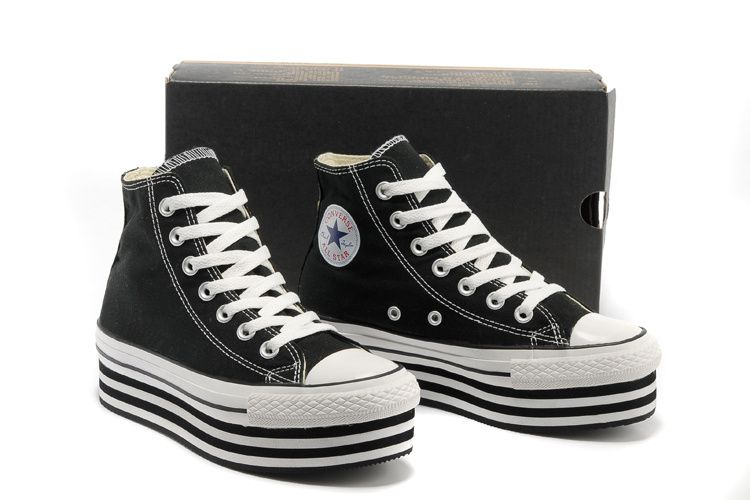 ef95dda0368 Black Converse All Star Light Double Platform Chuck Taylor High Tops Canvas  Women Sneakers  converse  shoes