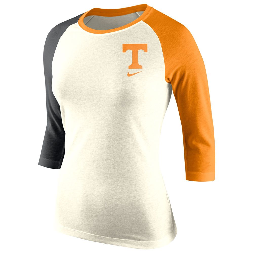 86a50d384c7a3 Women s Nike Natural Tennessee Volunteers Tri-Blend Strong Side 3 4-Sleeve  Raglan T-Shirt XL. REALLY LIVE THIS SHIRT!