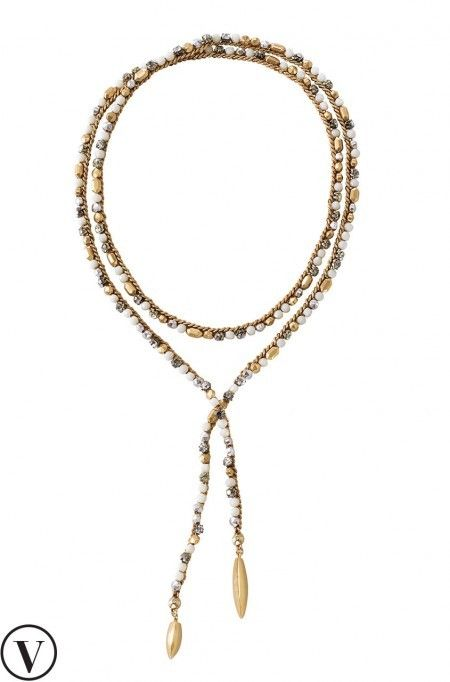 What makes this gold lariat necklace so special is its mix of vintage plating & beading. Find your perfect gold chain necklace & more from us at Stella & Dot.