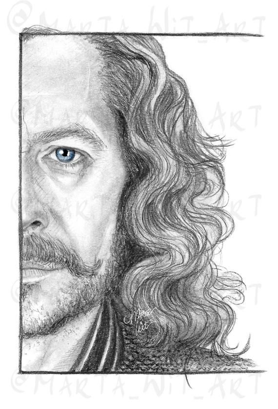 HP20  Fan Art Print  Sirius Black | Etsy