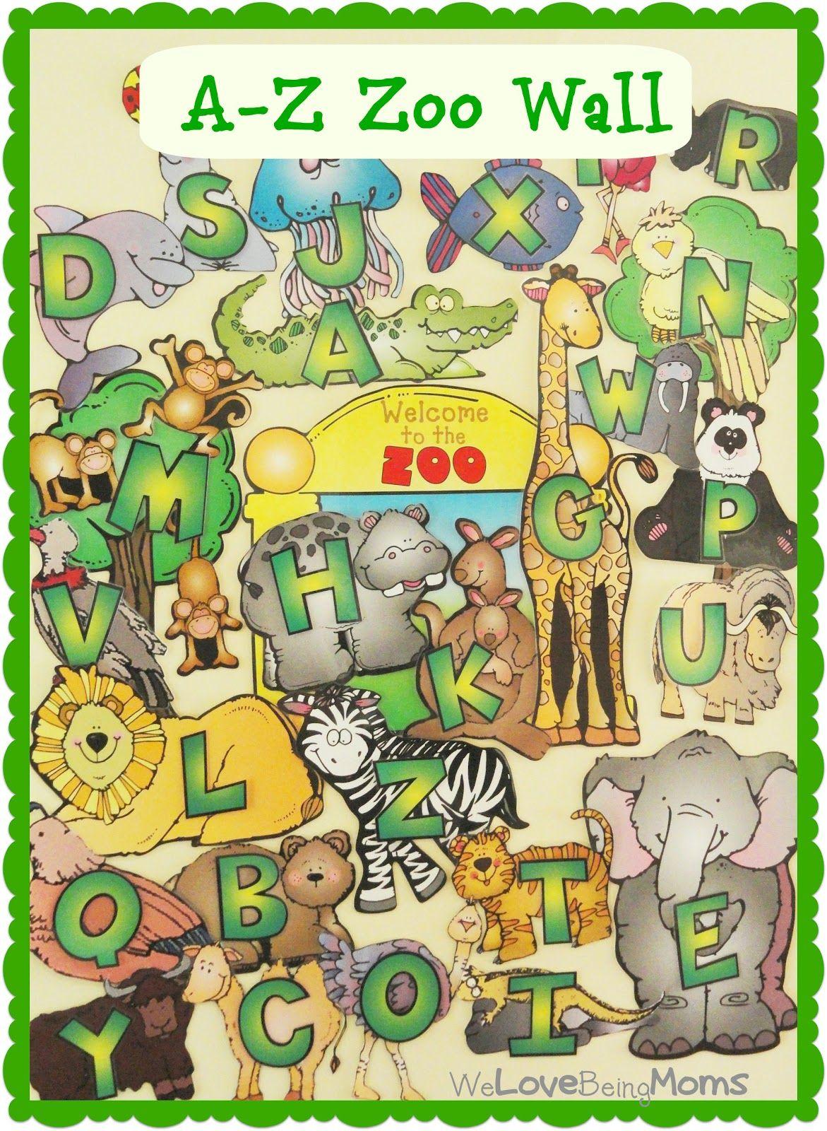 A Fun Way to Teach ABC's to Preschoolers AZ Zoo Wall