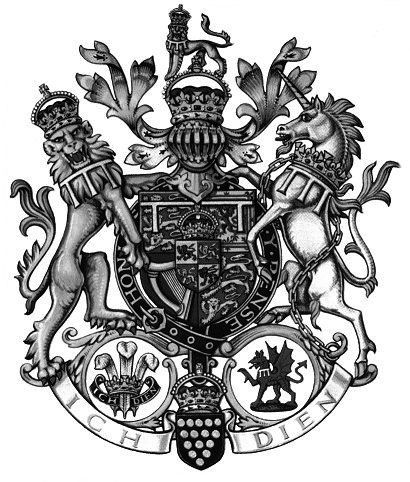 British Royal Coat Of Arms Unicorn Lion Tattoo Designs