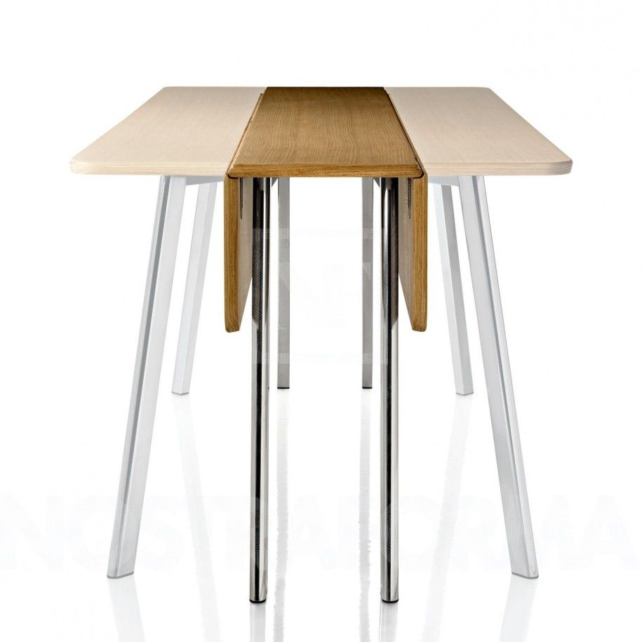 Stunning Configuration Of Contemporary Folding Dining Table: Modern  Stainless Steel Table Leg Contemporary Folding Dining