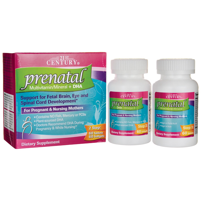 prenatal multivitamin dha 60 tablets and 60 softgels kit