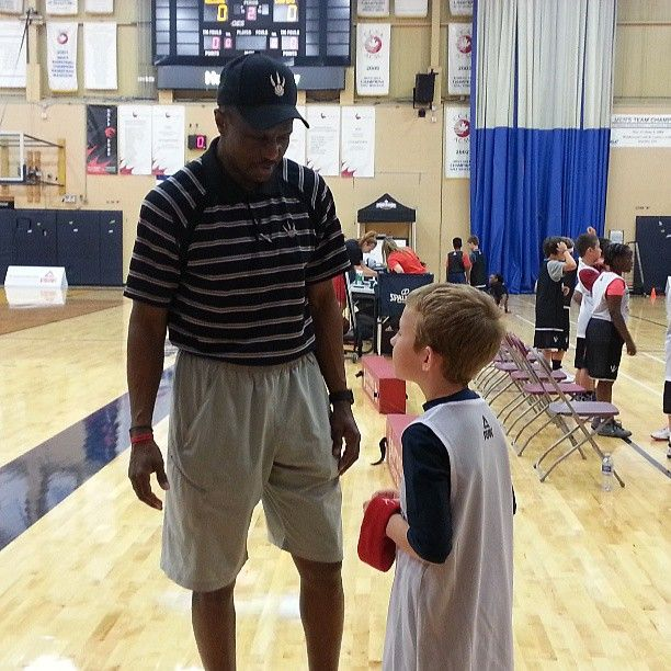 One-on-one chat with head coach Dwane Casey at the #Raptors Basketball Academy.