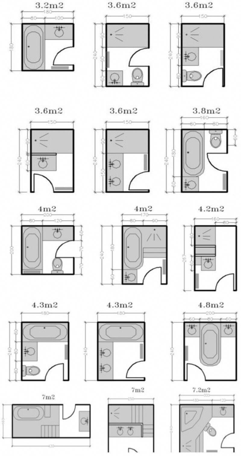title} (con imágenes)  Planos de baños pequeños, Planos de baños