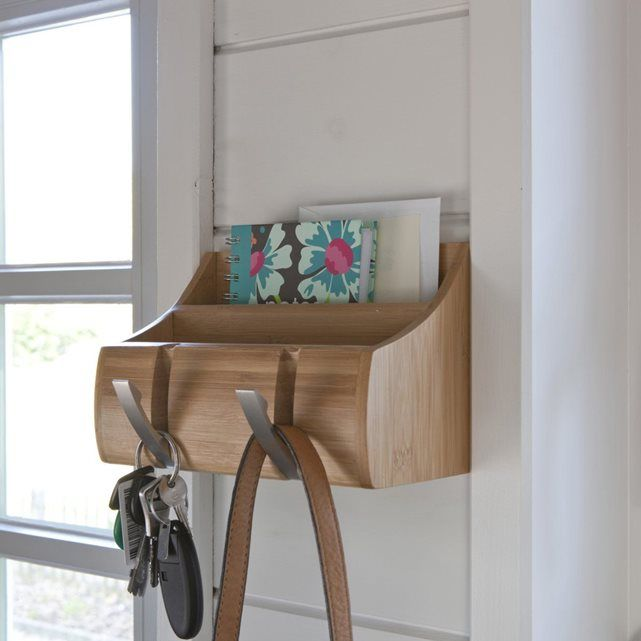 Patère murale, vide-poches, bambou La Redoute Interieurs Idées - meuble vide poche design