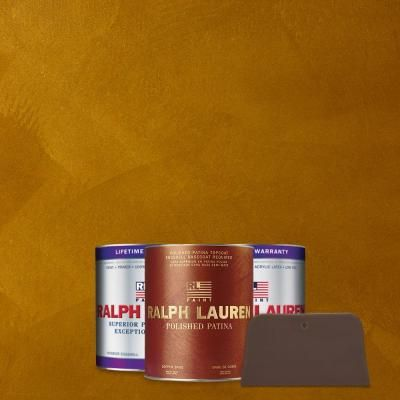 Bronze Ochre Copper Polished Patina Interior Specialty Paint Kit PP112
