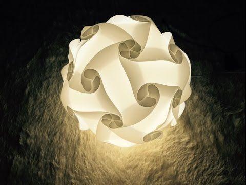 Iq Light Iq Lamp Jigsaw Light Jigsaw Lamp Puzzle Lamp Puzzle Light 30piece Instruction Diy Lamp Puzzle Lights Origami Lights