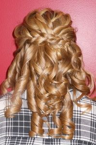 Braid to hold back curls, formal style by Melissa Brandes