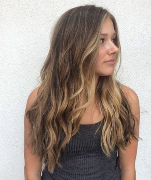 Sun bleached brunette hair | coiffing in 2019 | Balayage ...