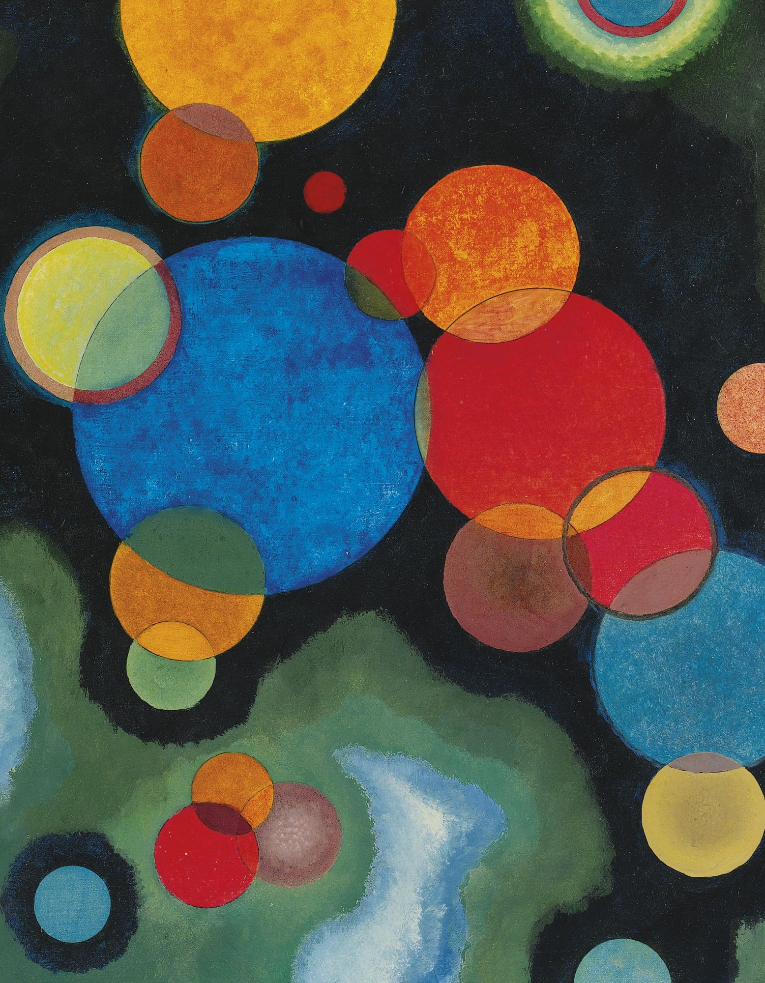 Wassily Kandinsky's Vertiefte Regung (Deepened Impulse) Painted in February 1928