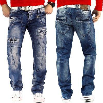 Details zu Cipo & Baxx Herren Jeans Mens Pants Freizeit-hose Clubwear Biker  Style Top Denim | Biker style