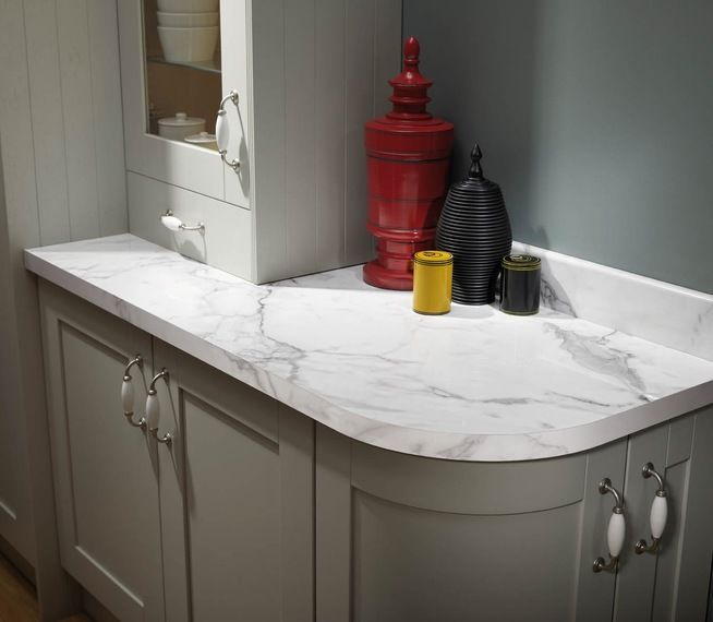 Bathroom Laminate Countertops: Pre Formed Ready Made Curved Radius Laminated Kitchen