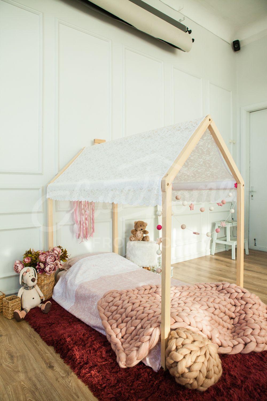 Wooden House Bed Frame Platform Bed Teepee Bed Wood Bed Frame