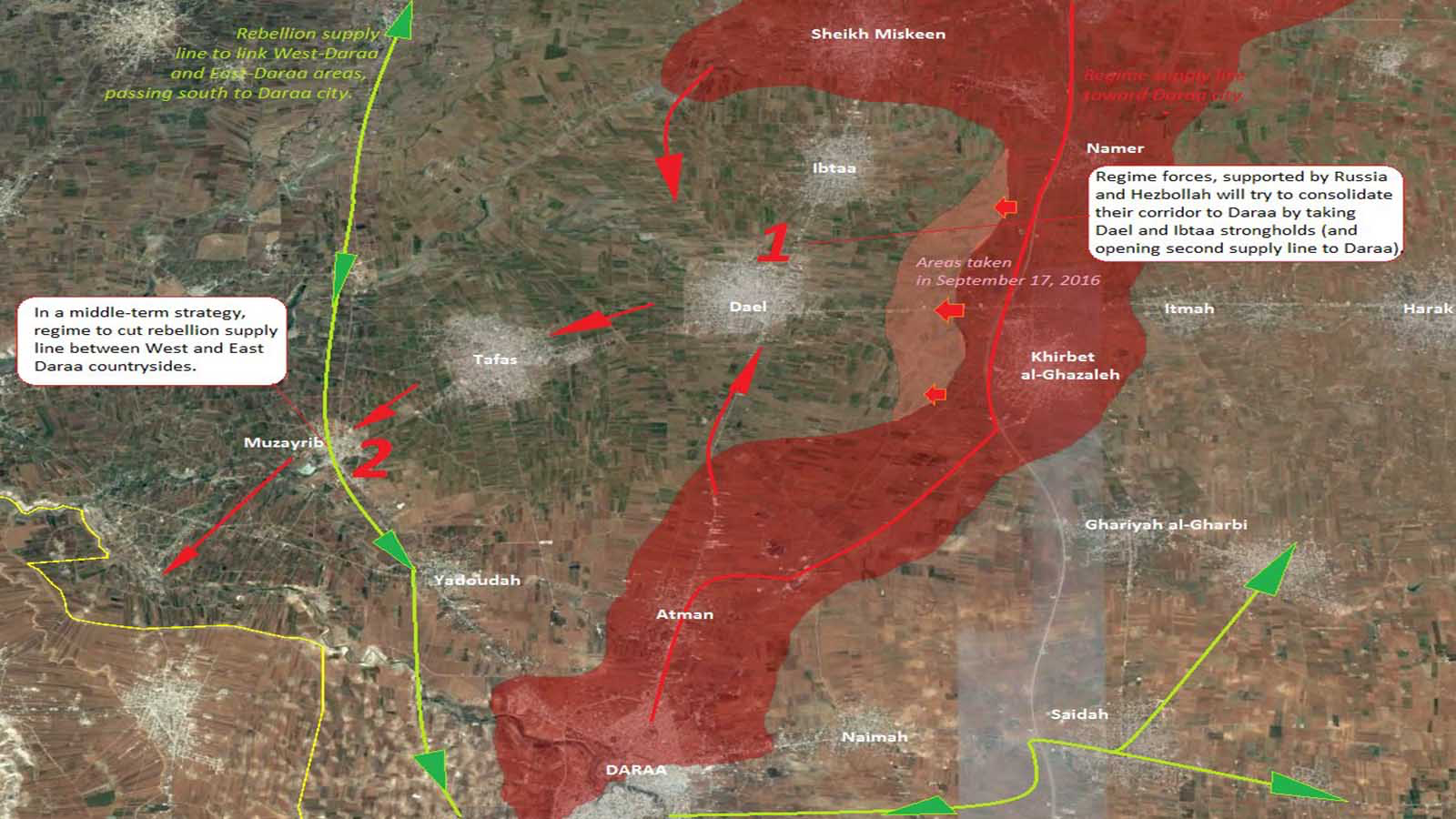 FSA Southern Front Strategy Failed Following USJordan Agenda - Us agenda map