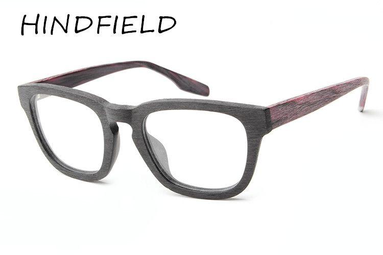 HINDFIELD Retro brand round frame plain computer eyeglasses for men ...