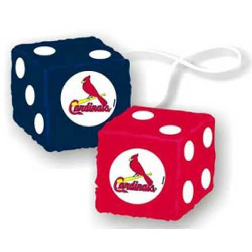 St. Louis Cardinals MLB 3 Car Fuzzy Dice