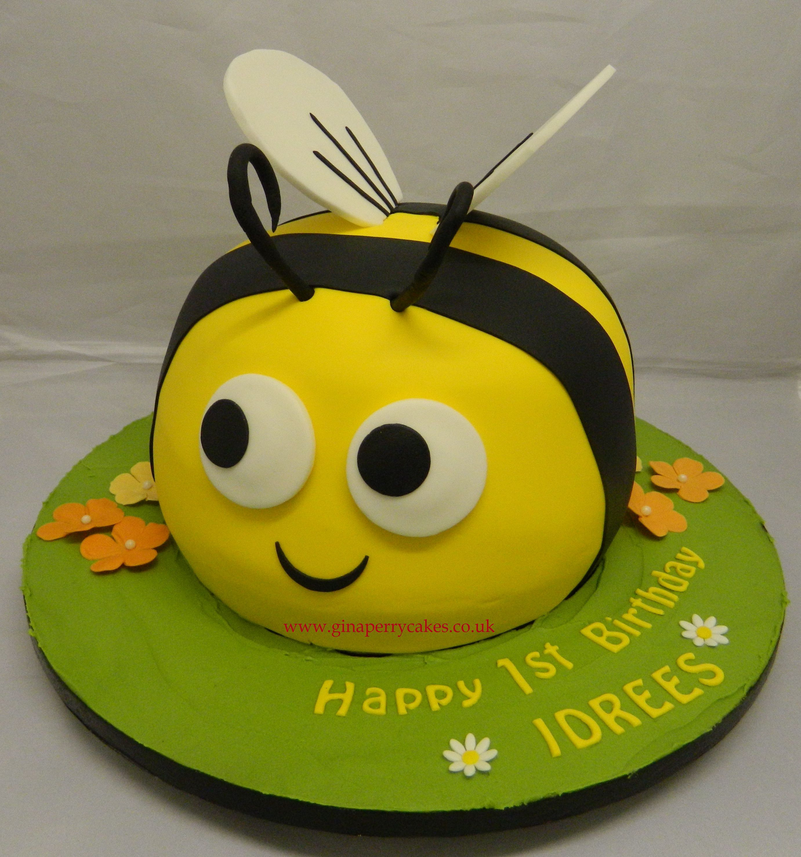 Busy Bee birthday cake for a 1 year old My Celebration Cakes