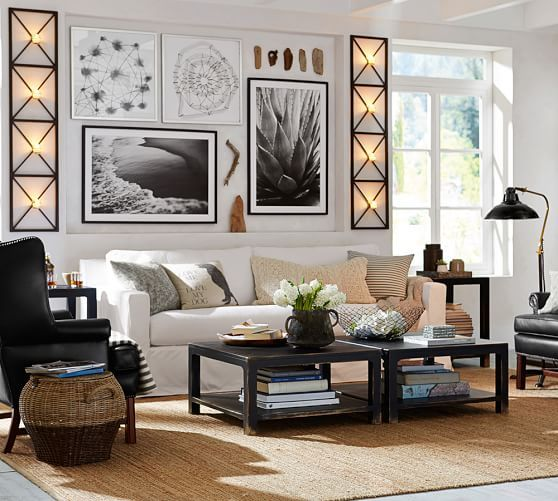 38 Small Yet Super Cozy Living Room Designs: Pottery Barn - Print AND Room