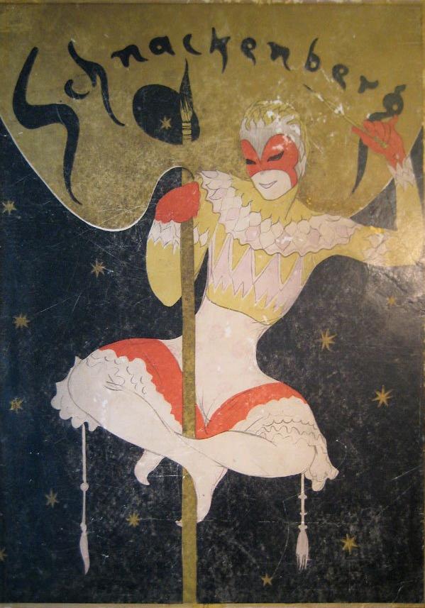 Walter Schnackenberg, 1 9 2 2, Kostüme Plakte und Dekoration Book.