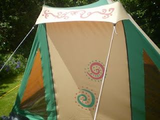 The Painting Of The Tent Tent Outdoor Gear Canvas Tent