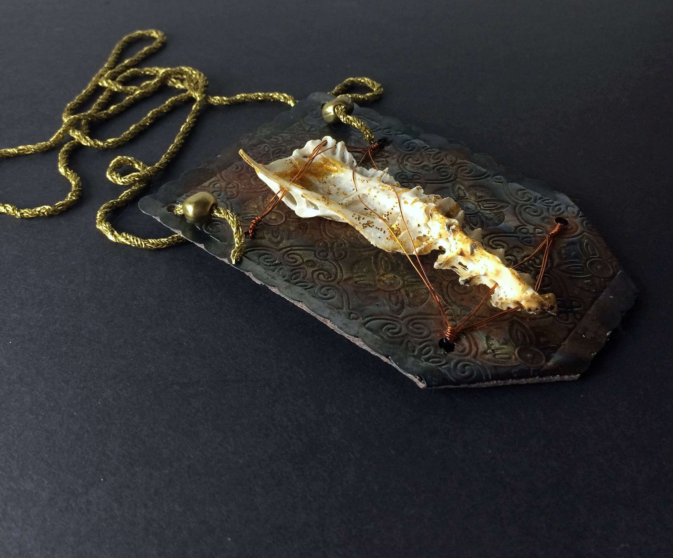 Alice in WastelandS bone necklace with real bone. Apocalyptic ...
