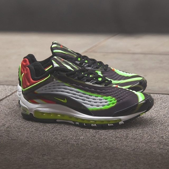 NIKE AIR MAX DELUXE VOLT/HABANERO RED