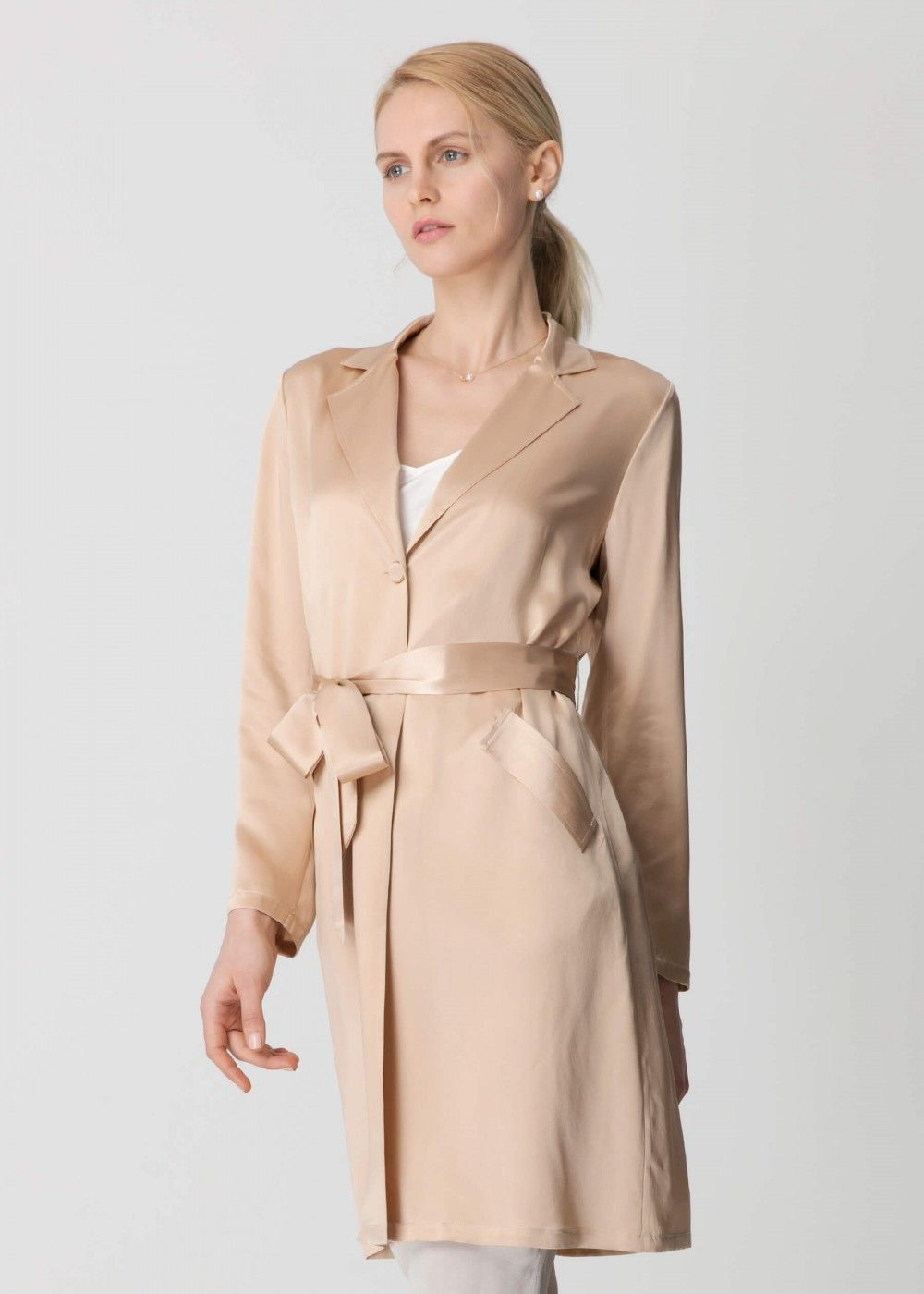 9e34eb55c4 Chic Silk Trench Coat | Lilysilk | Pinterest | Trench, Coat and Silk