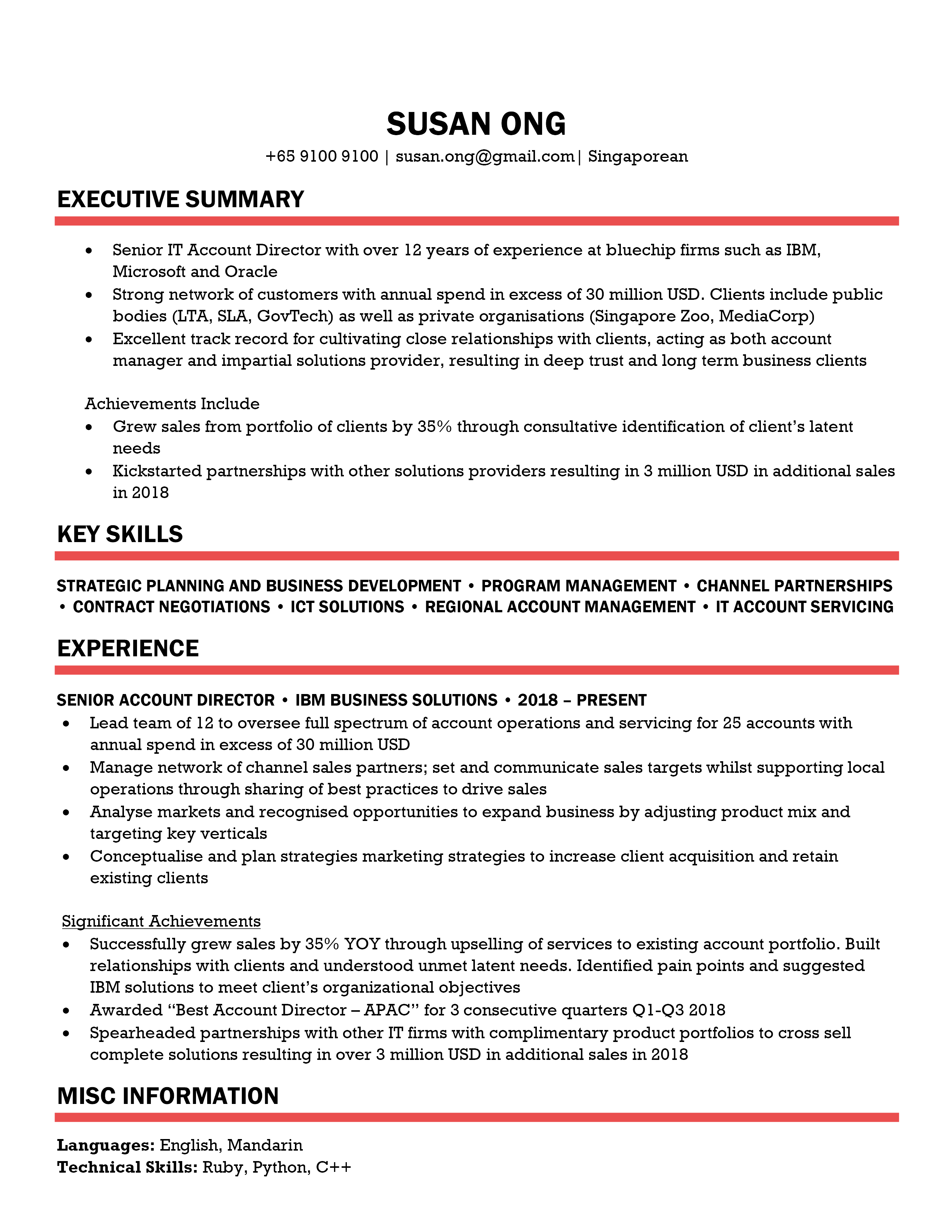 Bold Red Resume Template CV Template in 2020 Cv
