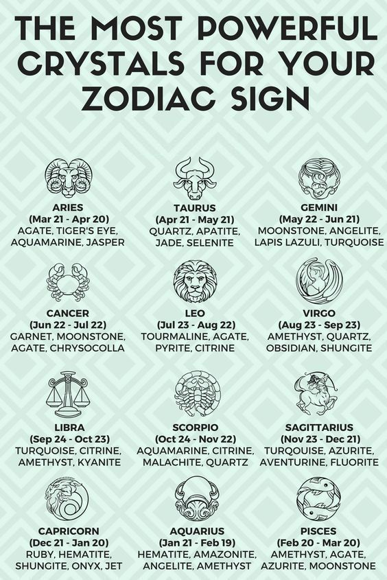 Best healing crystals for your zodiac sign  | Feng Shui