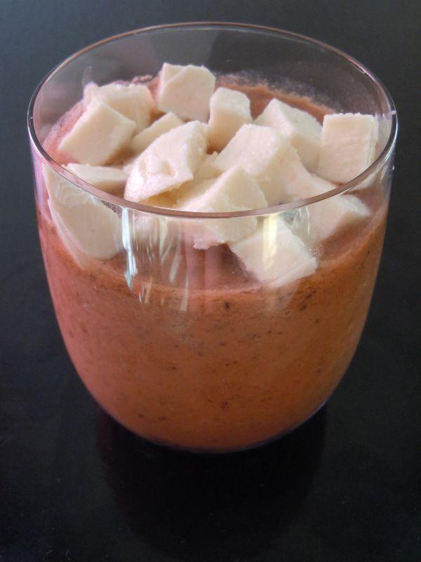 Gaspacho {tomate-mozzarella}