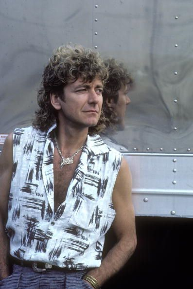 TEXAS Photo of Robert PLANT posed in Dallas 1985.