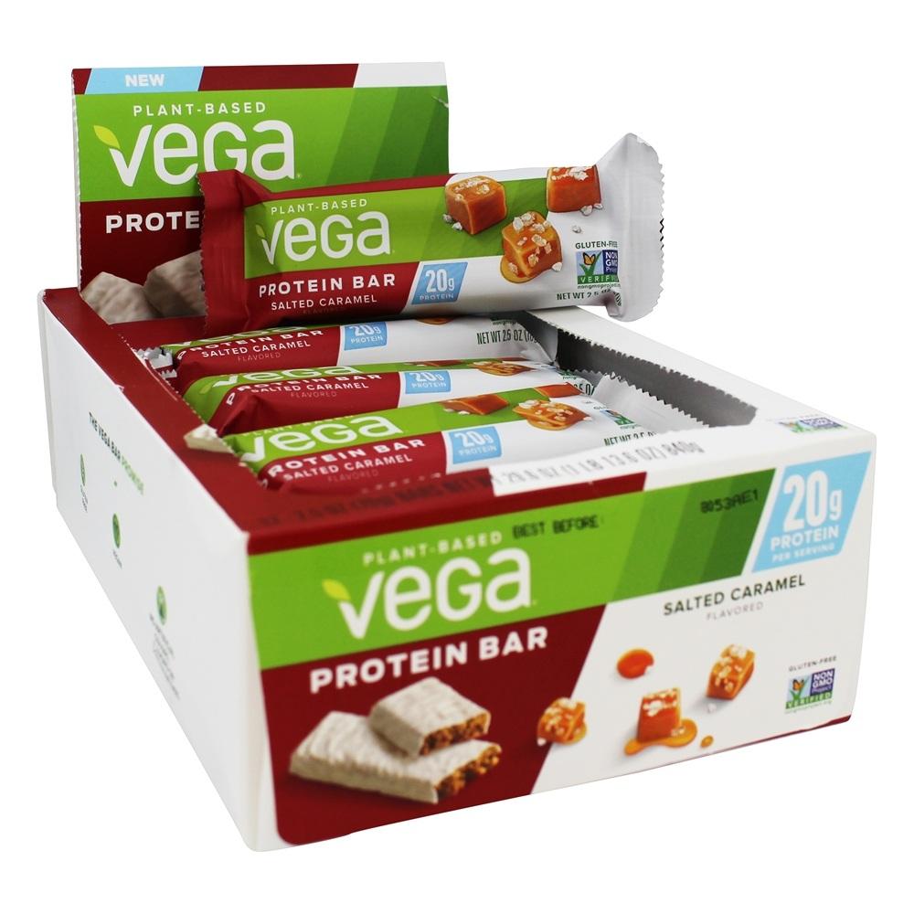 Vega Vega 20g Plant Based Protein Bars Box Salted