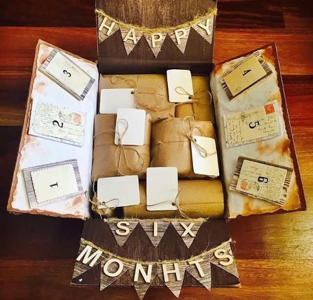 Meaningful Wedding Gift Ideas: Anniversary Care Package 6 Months