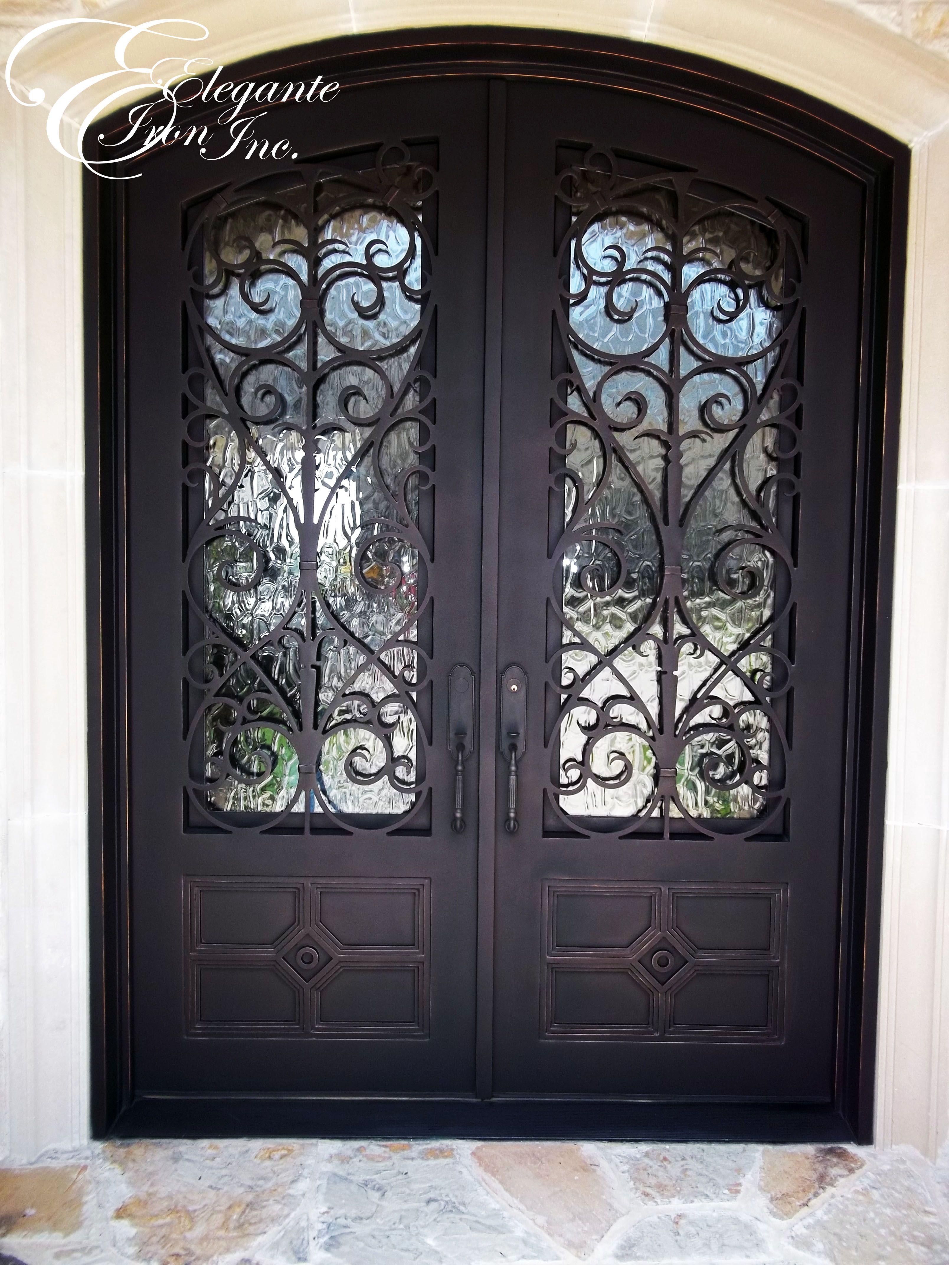 Custom Wrought Iron Front Door Versatility Of Sliding Barn - Wrought iron front door