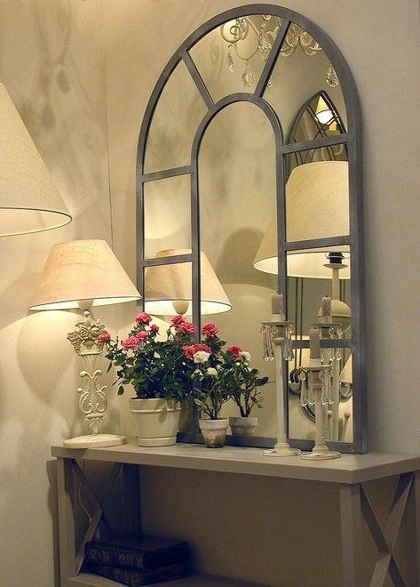 Espejo forja ventana gris sumi patinado mis cosas for Decoracion con espejos en paredes