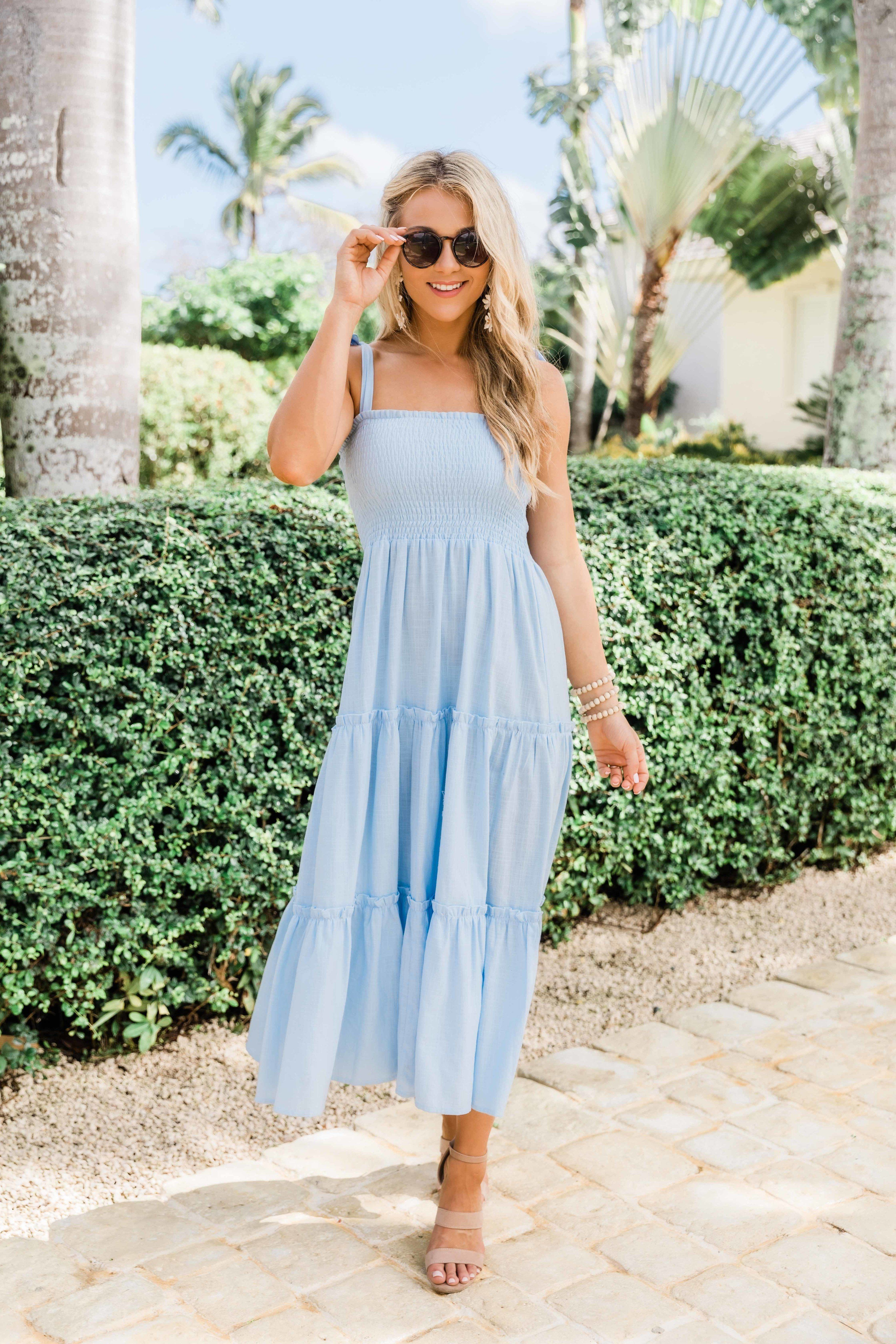 Follow Your Heart Only Light Blue Midi Dress In 2021 Light Blue Midi Dress Blue Midi Dress Pink Midi Dress [ 5120 x 3413 Pixel ]