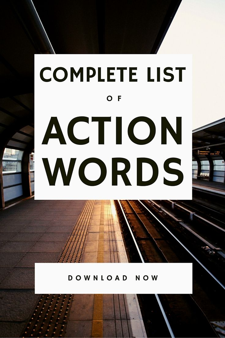 Complete List of Action Words for Resume